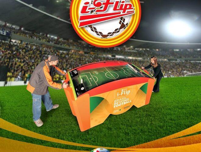 i-Flip em el evento deportivo más grande del mundo.