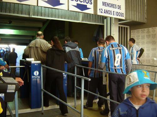 Média de público cresce em 2008 no Grêmio com o Sistema de Gerenciamento de Acesso Imply