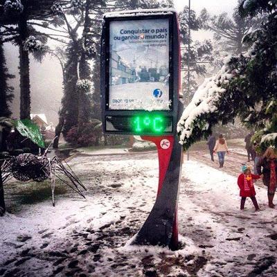 PEM em Gramado registra baixas temperaturas